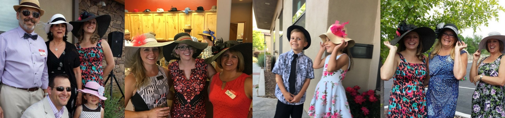 A collage of photos showing Distinctive Dental Care's Annual Kentucky Derby Party