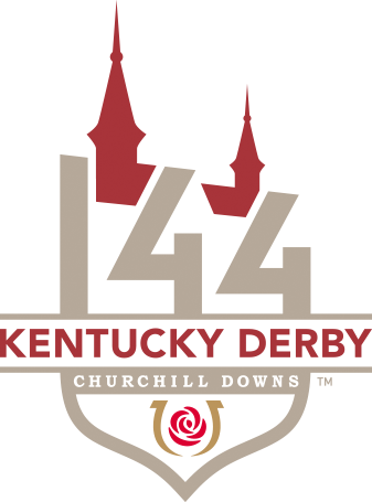 The official logo for Kentucky Derby 144