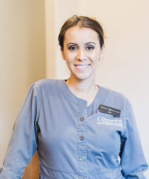 A female patient smiling while receiving sedation dentistry in Prescott, AZ.